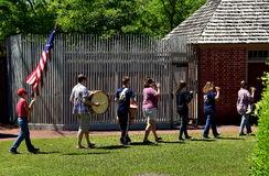 New Bern, NC: Fife & Drum Corps at Tryon Palace Stock Image