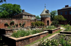 New Bern, NC: Gardens and Dovecote at Tryon Palace Stock Photo