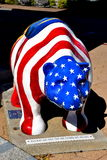 New Bern, NC: Patriotic Fiberglass Bear Royalty Free Stock Images