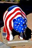 New Bern, NC: Patriotic Fiberglass Bear Royalty Free Stock Images
