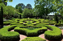 New Bern, NC: 1770 Tryon Palace Knot Garden Royalty Free Stock Photography