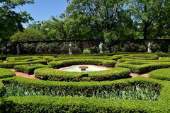 New Bern, NC: 1770 Tryon Palace Knot Garden Stock Images