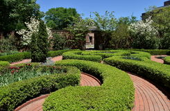 New Bern, NC: 1770 Tryon Palace Knot Garden Royalty Free Stock Image