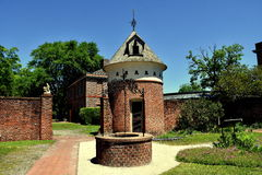 New Bern, NC: Tryon Palace Well & Dovecote Royalty Free Stock Image