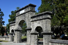 New Bern, NC: Weeping Gate at Cedar Grove Cemetery Royalty Free Stock Photo