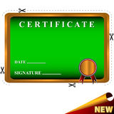 New best certificate Stock Images