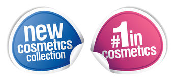 New best cosmetics stickers. Royalty Free Stock Photos