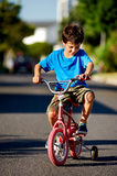New Bicycle boy Royalty Free Stock Image