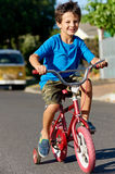 New bicycle boy Stock Images