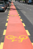 New bicycle path Stock Image