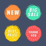 New Big Sale Best Price Thank You Text Paint Spot Royalty Free Stock Photos