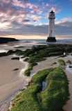 New Bighton Lighthouse. Lighthouse on shore of Mersey river, Wirral Peninsula, near Liverpool New Brighton Royalty Free Stock Photo