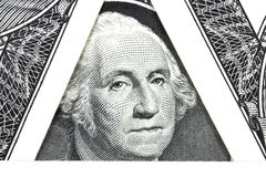 A new bill in one American dollar Royalty Free Stock Photos
