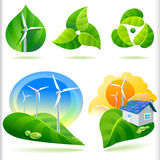 NEW- BIO GREEN ENERGY ICONS Royalty Free Stock Photography