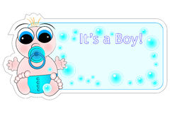 New Birth Label - Baby Boy Stock Images