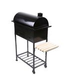 New black barbecue with a cover close Royalty Free Stock Photo