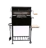 New black barbecue with a cover over Royalty Free Stock Photography