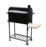 New black barbecue with a cover over Stock Photos