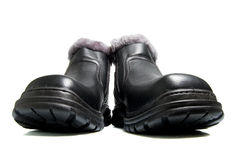 New black boots Royalty Free Stock Photo
