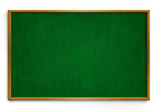 New Black chalk board with wooden frame  isolated on white backg Royalty Free Stock Photo
