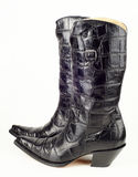 New black cowboy boots Royalty Free Stock Photography