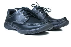 New black leather shoes Royalty Free Stock Image