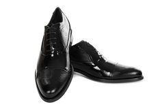 New black male shoes Royalty Free Stock Photos