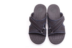 New black men's sandals isolated on white Stock Image