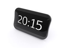 New black shining digital clock  on white. Background with 2015 text Stock Images