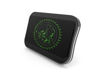 New black shining digital navigator  on white Royalty Free Stock Photo