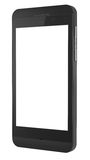 New black Smart Phone with blank screen. Stock Photo