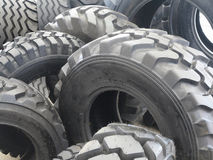 New black tractor abstract tire wheels background Royalty Free Stock Photo