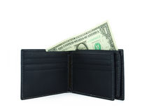 new black wallet Royalty Free Stock Images