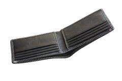 A new black wallet Stock Photos