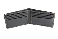 A new black wallet Stock Images