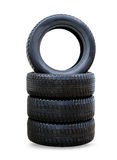 New black winter tyres for car Stock Photo