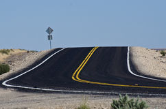 New Blacktop in the Desert Stock Images