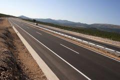 New blacktop on motorway Stock Photo