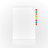 New blank page. On abstract backgrounds Royalty Free Stock Image
