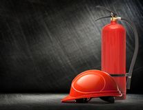 New blank red fire extinguisher Stock Image