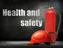 New blank red fire extinguisher Stock Images