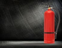 New blank red fire extinguisher Royalty Free Stock Photography