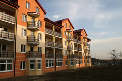 New block. Of flats - sunset time Royalty Free Stock Photography