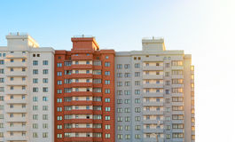 New block of flats building. Royalty Free Stock Image