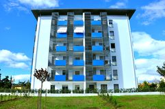 New block of flats in Italy  Royalty Free Stock Images