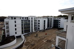 New blocks under construction Royalty Free Stock Photo
