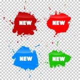 New Blots Icons Set Royalty Free Stock Photo