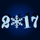 New 2017. Blue Christmas background Royalty Free Stock Photography