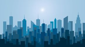 New blue city towers Royalty Free Stock Photos
