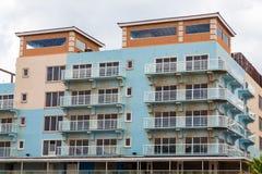 New Blue Condo Construction in Aruba. Unfinished New Blue Condo Construction in Aruba Stock Photo